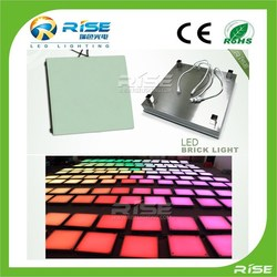 Dmx programable led glass brick with night brightness