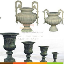 Rustic decorative garden cast iron urn plant containers wholesale