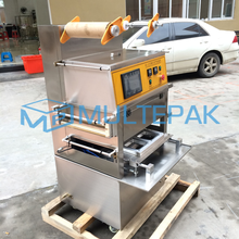 Fully Automatic Vacuum and Gas Flushing Map Tray Sealer Sealing Machine