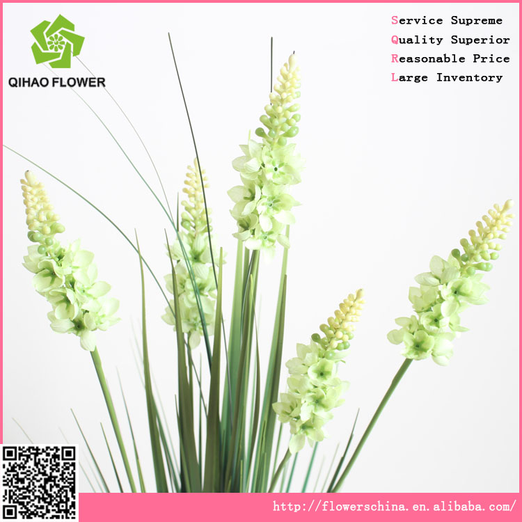 hyacinth bouquet with 5 head, artificial grass & flower factory