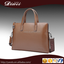 Guangzhou manufacturing genuine leather men business bags