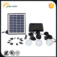 2016 hot selling 4w solar panel mini solar power lighting system for home use
