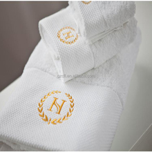 Star hotel embroidered custom 100% cotton bath towel sets