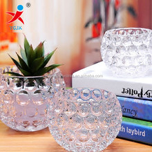 Crystal glass vase and spherical shape The crystal ball thick hydroponic flower pot European modern vogue to live in