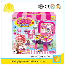 hot selling food set play game plastic toys for decorating cakes with high quality