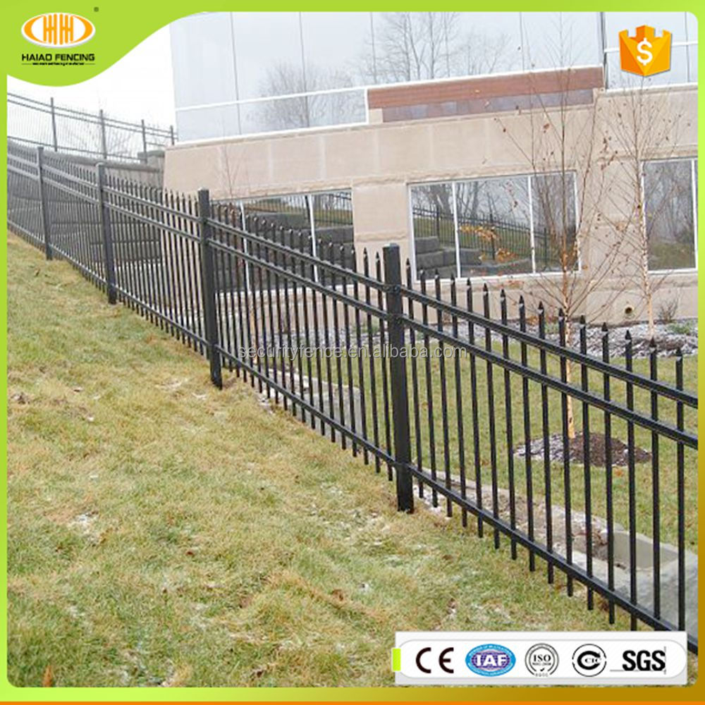 Low carbon used 6' high ornamental classic and commerciall steel fence panels