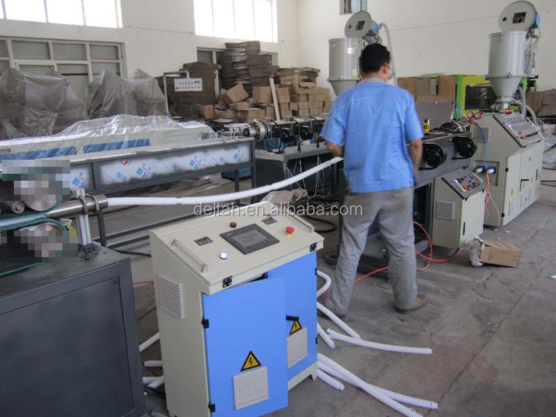 Corrugated hose pipe production line making machine