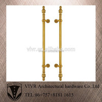foshan pure gold luxury big pull door handle for glass doors