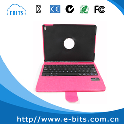 360 degree rotate PU leather case tablet bluetooth keyboard For iPad mini