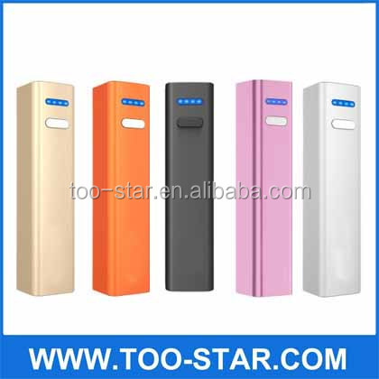 mini portable 3200mAh emergency phone charger for smart phone and tablet