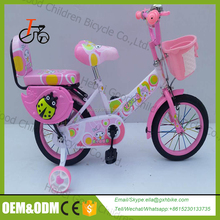 2017 kid bicycle beautiful bicycle for 3 years old girl children bike with trainning wheels