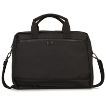 High quality business travel bag 100% nylon leather trim waterproof leather rolling laptop briefcase