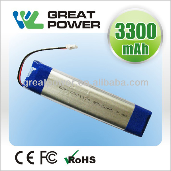 Factory directly selling IEC UN standard 3200mah rechargeable lithium polymer battery