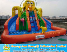 cute spongebob cheap inflatable water slides