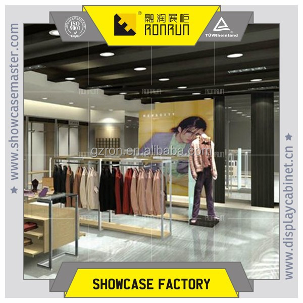 Names of modern and fashion decoration style interior design garment shop