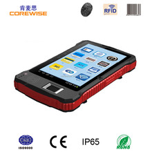 Rugged IP65 CE FCC RoHs industrial fingerprint sensor, barcode scanner, android battery powered mini rfid reader and writer pda