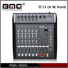 BMG Classical Design 6 Channel Audio Studio Mixer/Mixer Studio with Amplifier