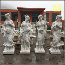 White marble stone Western characters The goddess of the four seasons sculpture for sale