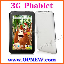 7 inch GSM Quadband Android Phone Tablet PC All Winner A23 2G 2Sim card Wifi BT
