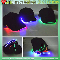 2017 new product and hot sell Outdoor sports led cap light and hats with custom