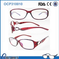 2016 Latest newest woman /lady style optical popular small frame eyeglasses eyewear with metal docoration