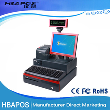 Pos System all in one / Cash Register equipment for restaurant/ Pos terminal point of sales of terminal for supermarket/store
