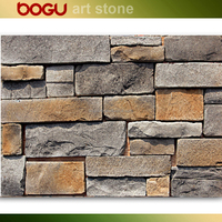 Cement based granite chip artificial imitation stone wall decorative classic style brick tile