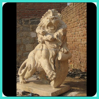 Life-Size Marble Lion Statue
