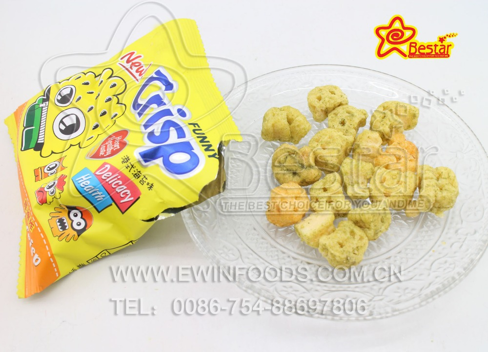 Mini Sweet Crisp Fried Cracker Ball Snack Seaweed/Barbecue Flvaor
