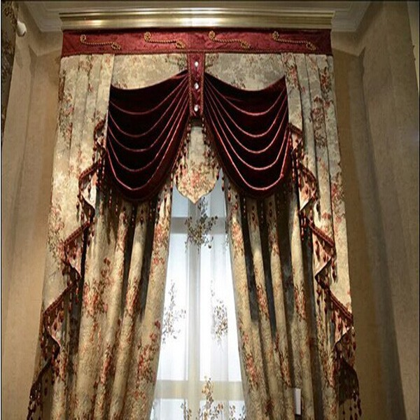 2015 Latest Style Fancy Curtain Design With Beads Drapery