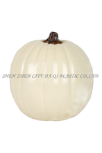 "9"" White Carvable Polyurethane Halloween Decoration Pumpkin"
