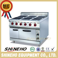 W085 high quality freestanding Electric Cooking Range 6 Burners Oven for sale
