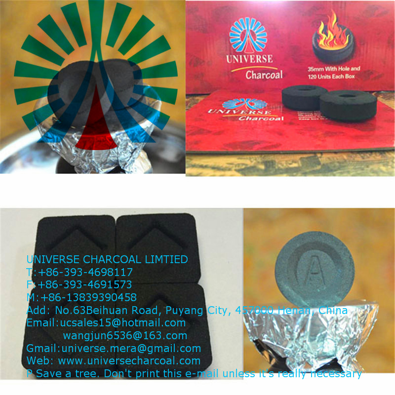 Factory price hookah charcoal briquette for shisha,hookah