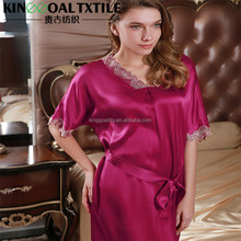 Sexy sale 100% Silk Women Nighty sleepwear