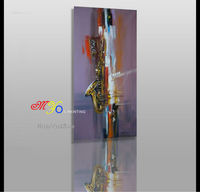 abstract trumpet scenery simple modern fabric oil painting on canvas