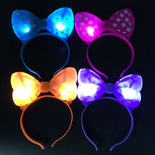 New Fashion Wholesale Custom LED HeadBand, Mickey Minnie Mouse for Party
