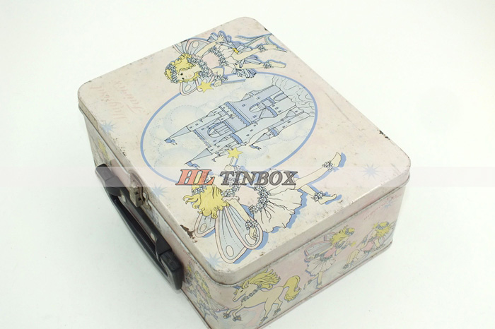 Rectangular Manufacture Handle Tin Box