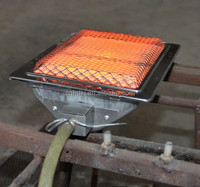 Gas catalytic bbq with back ceramic infrared burner