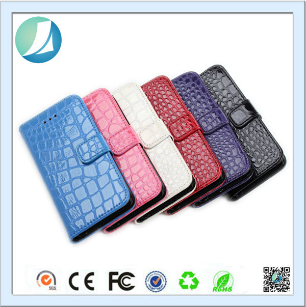 2014 New Arrival Alligator Pattern Privacy Filter Leather Case For Iphone 5