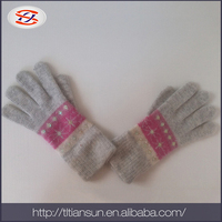 TSGL-2813 60%nylon,30%wool,10% angora hand warmer knitted hand gloves