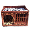 natural wicker dog bed carrier