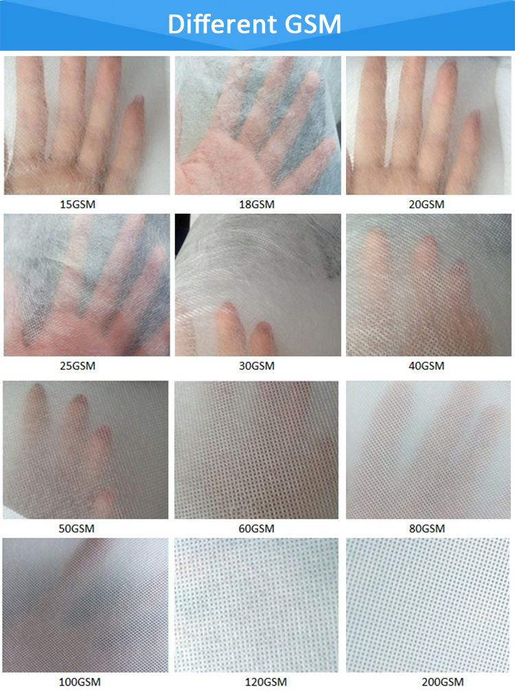 white 100% pet nonwoven fabric