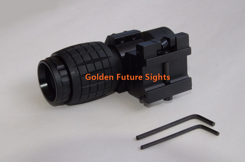 High Quality Tactical Airsoft 3X Magnifier Scope Sight with Flip To Side 20mm Rail Mount from Golden Future