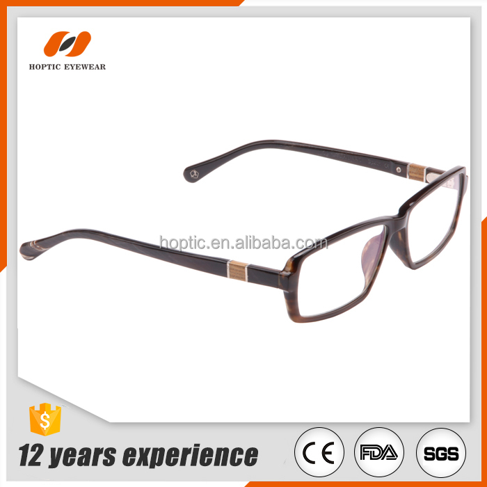 Fashionable natural india water buffalo horn wood decoration optical frames