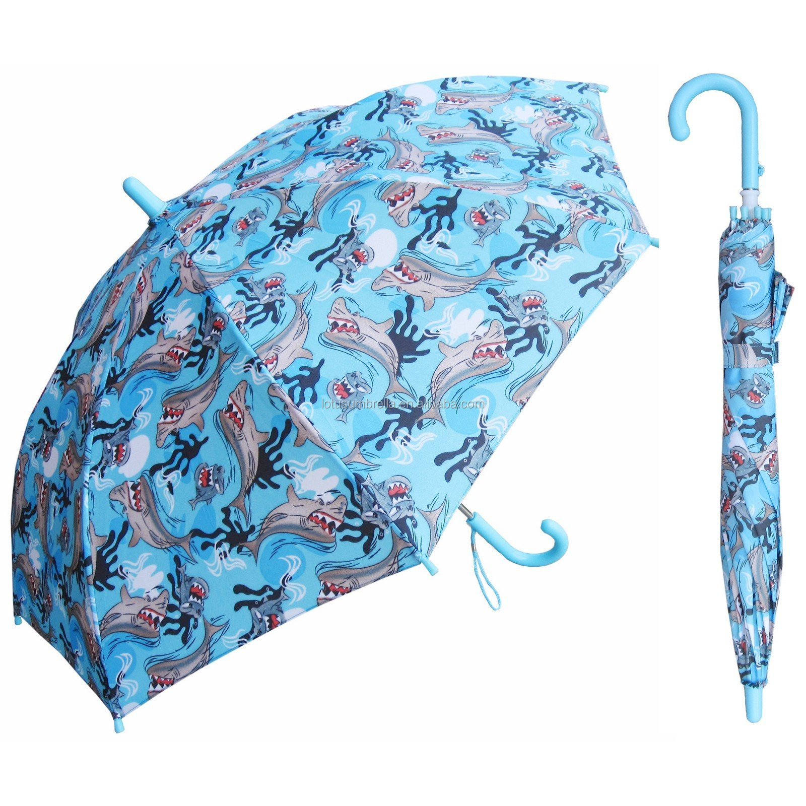 19Inch Color Full Print Customized Design Kids Umbrella With Flower Edge