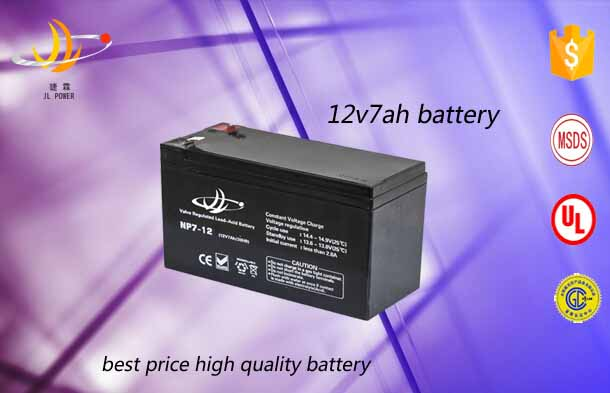 JL power 12v 7ah Deep cycle rechargeable storage batteries high quality solar system 12v 7ah sealed acid battery