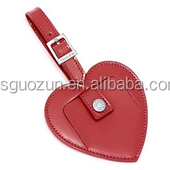 Personalised bulk embossed luggage tags wedding favor genuine leather/pu leather
