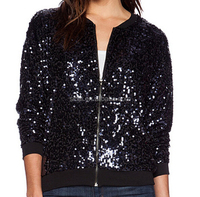 high fashion fenda women winter sequins bomber jacket