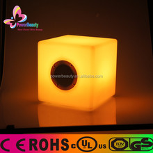 2015 hot sale PE Material Housing Rechargeable 3D Color Changing Glowing Led Bluetooth Cube Speakers