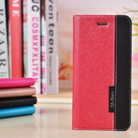 leather card holder flip case cover pouch for iphone 6